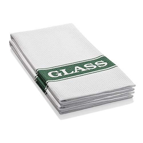 E-Cloth Glassware Drying & Polishing Towel - Brilliant for Wine Glasses Cocktail Glasses Barware - 2 Pack