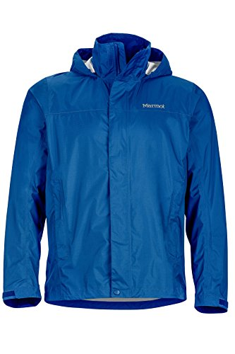 Marmot Men's PreCip Lightweight Waterproof Rain Jacket,Blue Sapphire,Medium