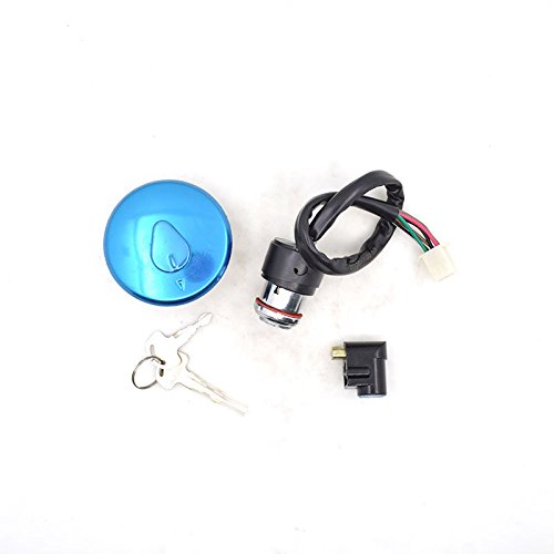 BEESCLOVER 2088 Motorcycle Ignition Switch Lock+Fuel Gas Tank Cap Cover Lock Set for Haojue Suzuki GN125 GN 125 125cc Spare Parts