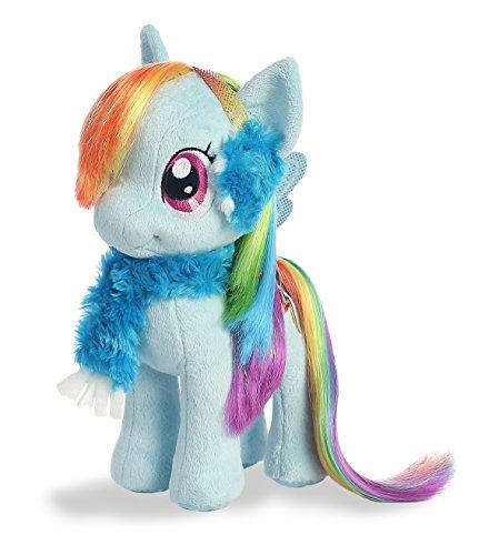 Aurora World My Little Pony, Rainbow Dash Plush Pony with Earmuffs and Scarf