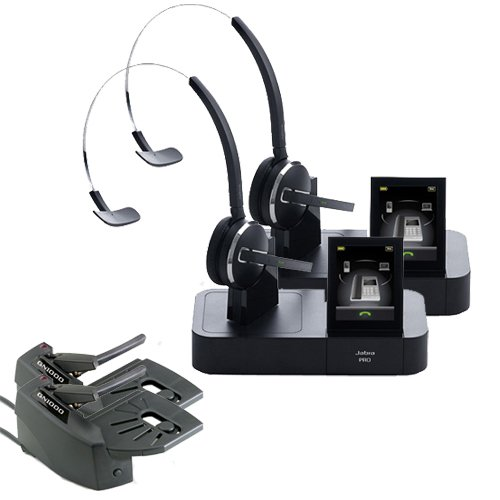 Jabra PRO 9470 Mono Wireless Headset with GN1000 Remote Handset Lifter (2-Pack) ()