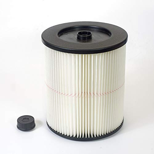 Seelong Replacement Filter Fit Shop Vac Craftsman 17816 9-17816 Wet Dry Vacuum Air Cartridge Filter For 5 gallon Vacuum Cleaner (Vac Filter Dry)