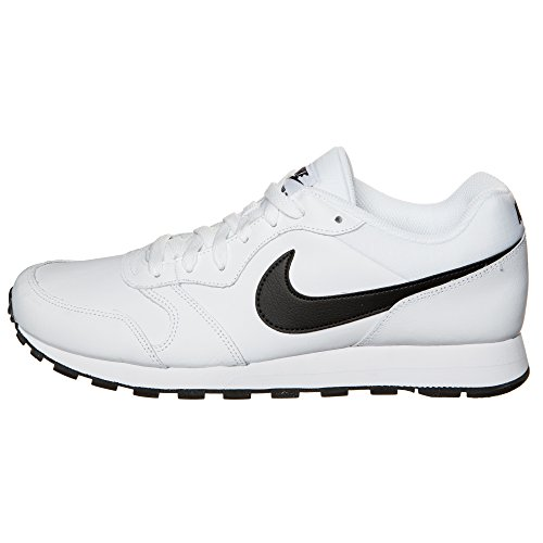 Nike Md Runner 2 Leather, para Hombre Blanco / Negro