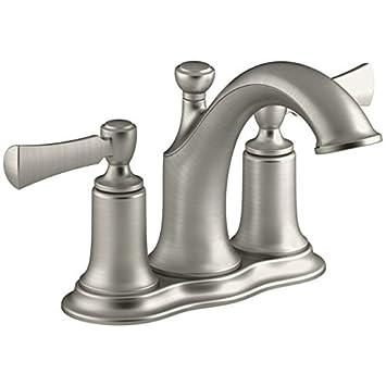 Kohler R72780-4D-BN Elliston Vibrant Brushed Nickel 4 Bathroom Sink ...