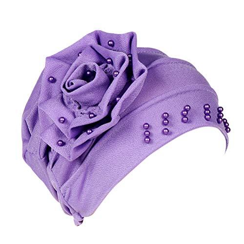 Alopécie Violet Fleur Couverture Bonnets Royal Dormir Coton De Chapeaux Perlé Train En Musulman Tête Chimio amp; Chapeau Rose Besbomig Turban Bleu Bonnet Rouge STw6Xatx
