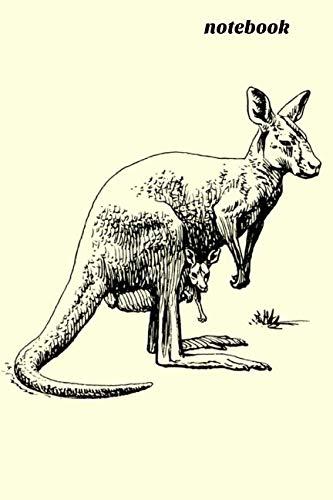 Notebook: Kangaroo Homework Book Notepad Notebook Composition and Journal Gratitude Diary -