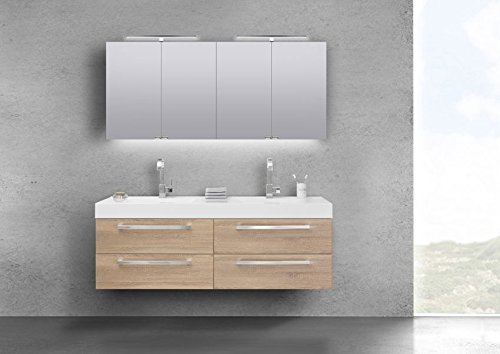 Amazon De Intarbad Badmobel Set Doppelwaschtisch 160 Cm Mit 4