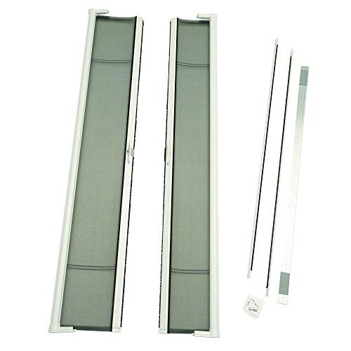 Door Kit Retractable Screen (ODL Brisa Premium Retractable Screen Kit for 96 in. Inswing/Outswing Double Doors - White)