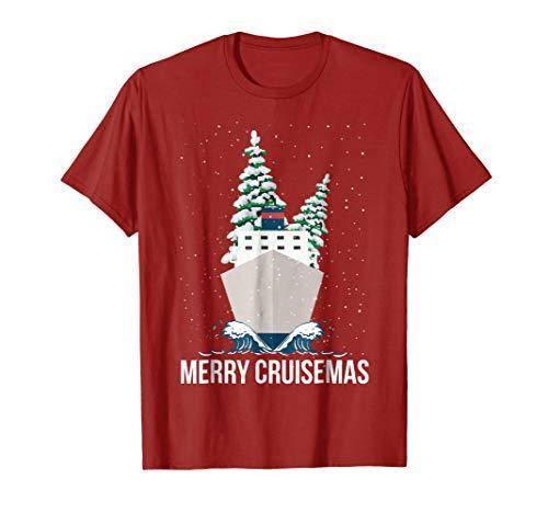 Mens Merry Cruisemas Christmas Cruise Caribbean Bahamas T-Shirt XL Cranberry