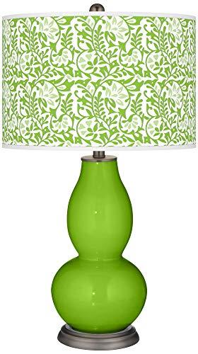 Neon Green Gardenia Double Gourd Table Lamp - Color + Plus