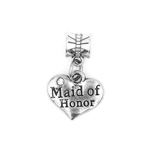 Maid of Honor European Bead Charm Dangling European Bead Charm (EU (Maid Of Honor Charm)