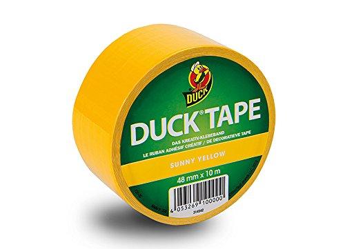 Duck Tape 152592 Gewebeband, 48 mm x 9,1 m, Sunny Yellow 100-00