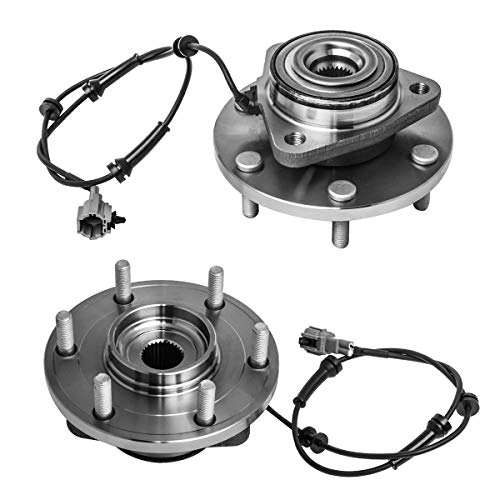 Front Wheel Hub and Bearing Assembly Left or Right Compatible Infiniti QX56 Nissan Titan Armada Pathfinder Armada AUQDD 515066 x2 (Pair) [ 6 Lug W/ABS ]