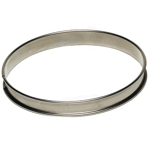 Tart Ring 3/4'' High, Stainless Steel - 200mm (8'')