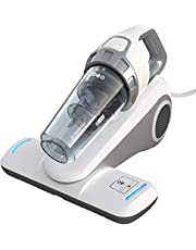 Dibea Upgraded UV Bed Vacuum Cleaner with Hepa Filtration and UV Light for Eliminating Dust Mites Allergens Pollen Corded Handheld, White UV-10