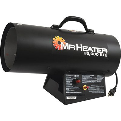 Mr. Heater 35,000 BTU Propane Forced-Air Heater #MH35FA 000 BTU Garage, Shop And Utility Heaters Heater Mr. Mr. Heater Propane