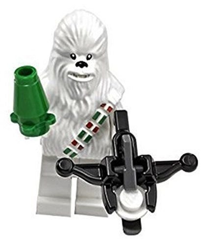 Lego Star Wars Minifigure Chewbacca White Version With Gun Bow Advent