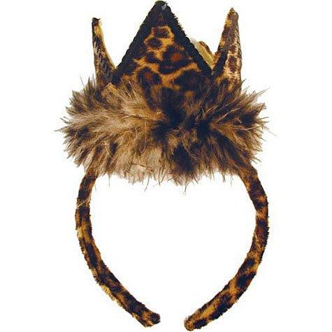 Tan Leopard Tiara Headband]()
