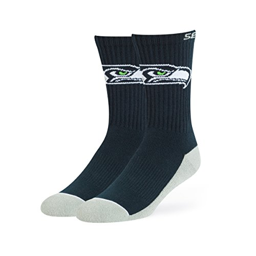 NFL Seattle Seahawks Men's OTS Anthem Sport Sock, Team Color, Large