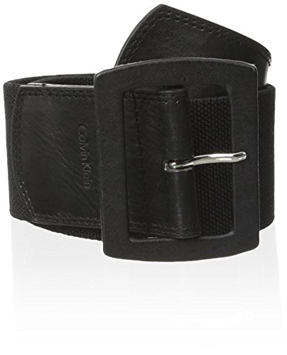 Calvin Klein Women's Linen Stretch Belt,Black,Medium/Large Calvin Klein Embossed Belt