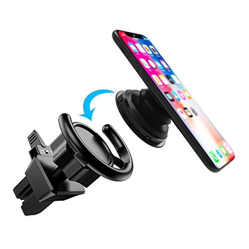 Pop Clip Car Mount, Ama Forest Pop Out Stand Air Vent Car Cell phone Mount for Pop Socket Expanding Stand Grip holder Users,360° Rotation PopSocket Mount iPhone Car Dashboard Desk Wall Mount- Black