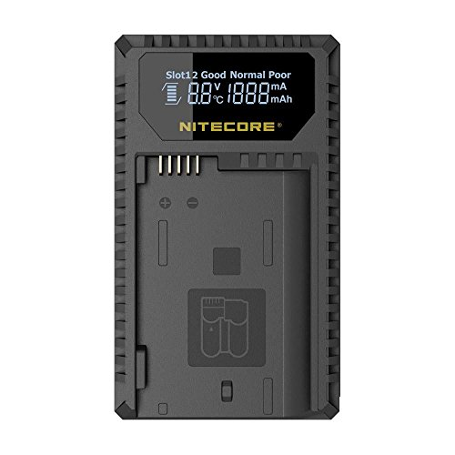 Nitecore UNK1 Digital USB Charger for Nikon Batteries EN-EL14, EN-EL14a, EN-EL15 - Compatible with Nikon Coolpix, 1V1, P, D Series by Nitecore