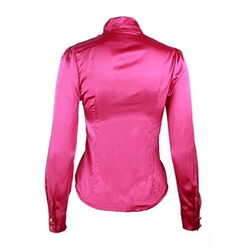 Nonbrand - Camisas - Button Down - Básico - con botones - para mujer morado