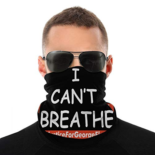 Geo-Rge Flo-Yd, Please I Can't Breathe, Justice for George Floyd Men Women Neck Warmer Face Mask Bandanas Hat