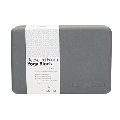 Shandali Recycled Foam Yoga Block - Super Dense, Durable, Lifetime Guarantee
