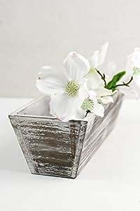 """Maceta de Richland cajas blanco biselado madera 4""""x 12"""""""