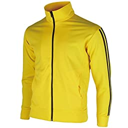 myglory77mall Men\'s Running Jogging Track Suit Warm Up Jacket Gym Training Wear XL US(3XL Asian Tag) Yellow