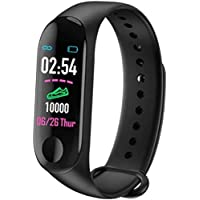 Goldtech M3 Intelligence Bluetooth Health Wrist Smart Band Watch Monitor/Smart Bracelet/Health Bracelet/Activity Tracker/Smart Fitness Band Compatible for All Androids and iOS Phone/Tablet (Black)