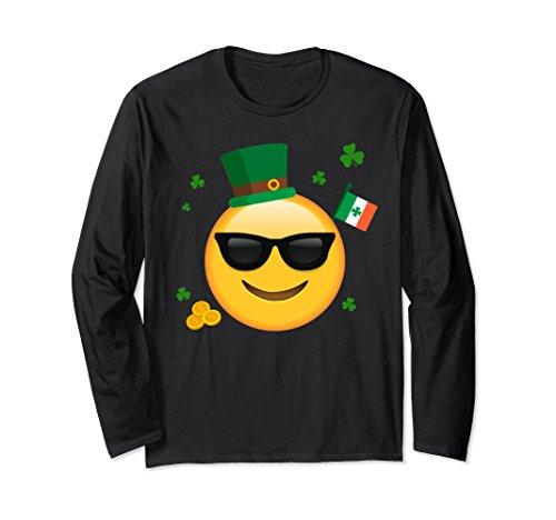 Unisex Sunglasses Emoticon Face Shirt Irish Flag Leprechaun Hat Small - Culture Love Sunglasses