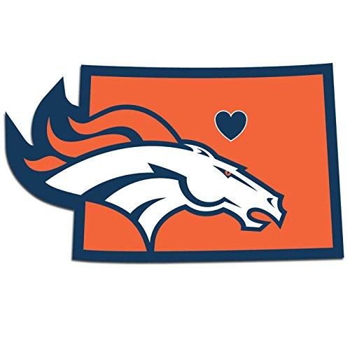 NFL Denver Broncos Home State Decal, (Nfl Denver Broncos Home Accessories)
