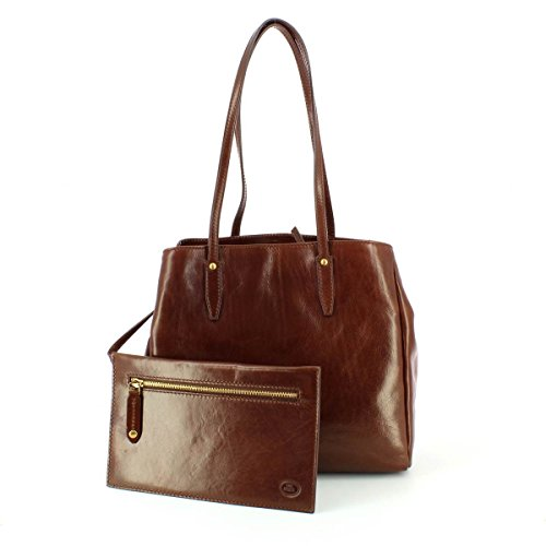 main cm brown brown braun Sac Fourre 32 The cuir Bridge Story Donna tout à vZnPfXqA