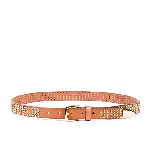 Linea Pelle Women's Avery Studded Hip Belt (L) - Linea Pelle Brown Belt