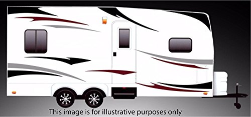 Graphics Decal Kit (RV, Trailer Hauler, Camper, Motor-home Large Decals/Graphics Kits 24-k-3)