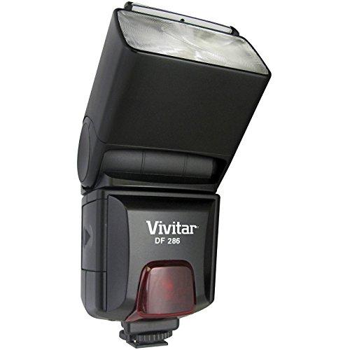 Vivitar VIV-DF-286-NIK Bounce Zoom Swivel Speedlite Flash for Nikon Cameras (Black)