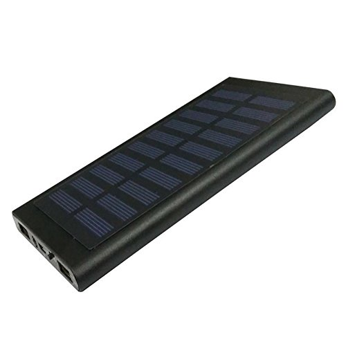 GEZICHTA Solar Charger 20000mAh Power Bank 2 USB Fast Charging LED Ultra...
