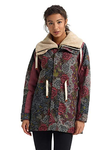 - Burton Women's Hazelton Jacket, Cheetah Floral/Rose Brown, X-Large