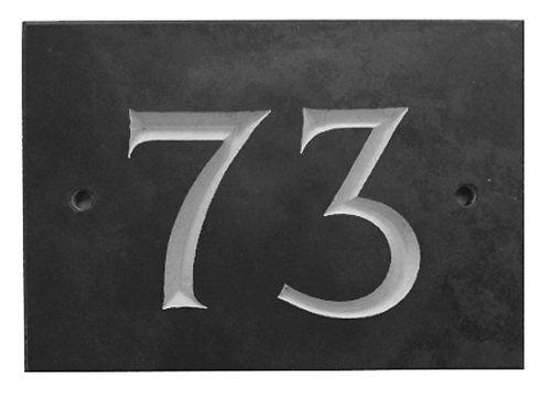 Black Slate House Number 1-99 (Number 73)