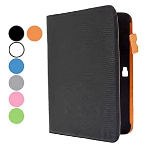 Simple Design PU Leather Case with Stand and Card Slot for Samsung Galaxy Note 10.1 N8000 (Assorted Colors) --- COLOR:Blue