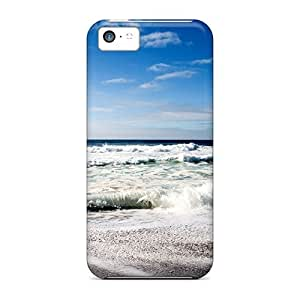 New Waves Foam Beach Tpu Skin Case Compatible With Iphone 5c