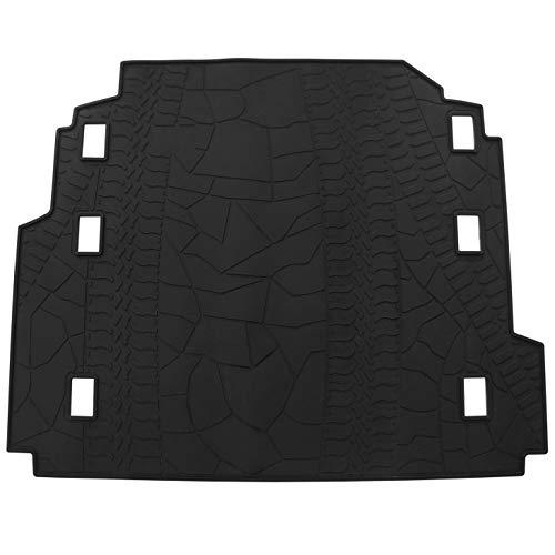 biosp Car Rear Trunk Mat Cargo Liner for Jeep Wrangler JL 2018 2019 All Weather Black Heavy Duty Rubber Custom Fit-Waterproof-Odorless