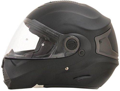 AFX FX-36 Unisex-Adult Flip-Up-Helmet-Style Modular Helmet (Flat Black, Medium)