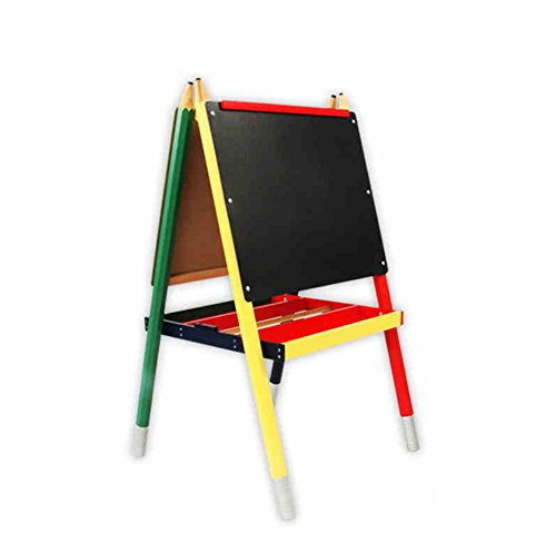 Green small blackboard / bracket-type baby WordPad / double-sided black and white pencil easel board by Easel