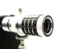 12X Zoom Óptico Enfoque manual teleobjetivo con Mini trípode para Samsung Galaxy S3 SIII GT-i9300 - Plateado