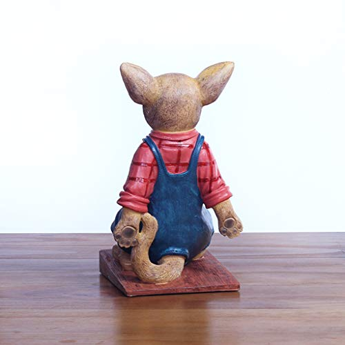 ZPWSNH Chihuahua Door Stop Door Resistance Anti-Collision Free Punching Floor Decoration Creative Cartoon Resin Crafts Book File Book by 14x22cm Bookshelf by ZPWSNH (Image #3)