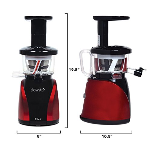 Tribest Slowstar vertical Slow Juicer and Mincer SW-2000, Cold Press Masticating Juice Extractor ...