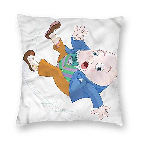 Mannwarehouse Alice in Wonderland Simple Pillowcase Humpty Dumpty CushionW24 x L24